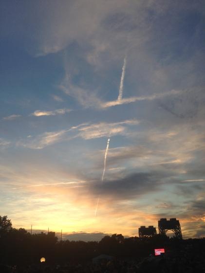 Sunset over Harlem across the east river.