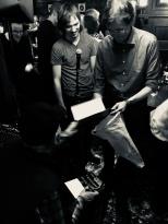 Joe Autographs His Books